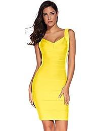 brand new bd493 6f821 Amazon.it: vestito schiena scoperta - Giallo / Vestiti ...