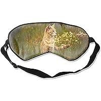 Schlafende Augenmaske, Tiere, Katzen, Gras, Augenmaske, Augenbinde, für Damen und Herren preisvergleich bei billige-tabletten.eu