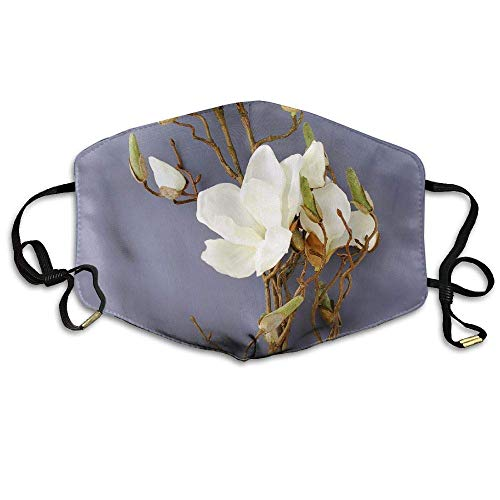 Magnolias Dogwood Silk Flowers Leaves Garlands Anti Dust Breathable Face Mouth Mask for Man Woman