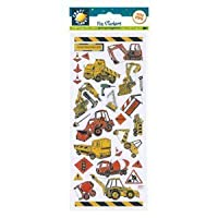 Craft Planet CPT 6561050 Fun Stickers-Construction Site Vehicles, Multi