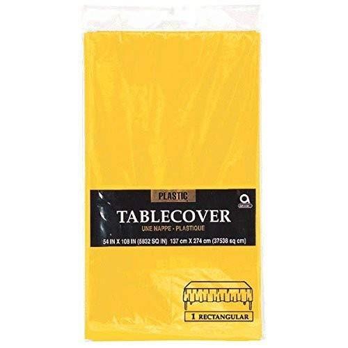 amscan International Tischdecke aus Kunststoff Sunshine gelb