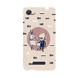 Skintice Designer Back Cover with direct 3D sublimation printing for Micromax Canvas Unite 3 Q372
