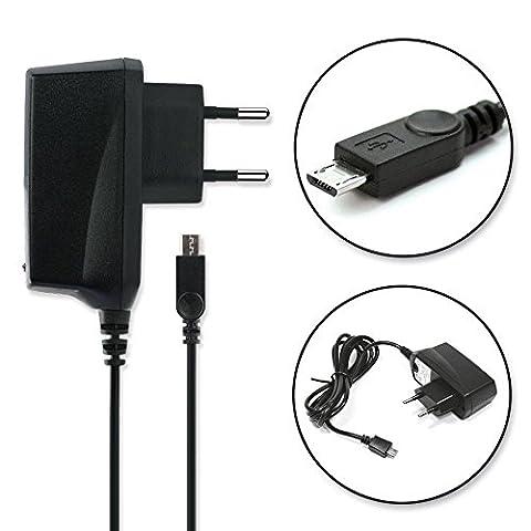 subtel® Chargeur de Qualité - (1A) pour YEZZ Andy, YEZZ Billy, YEZZ Foxy (5V / ) Chargeur Câble Secteur