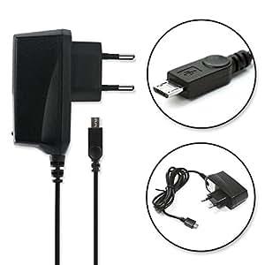 subtel® Chargeur de Qualité - (1A) pour MobiWire Pegasus Taima (5V / ) Chargeur Câble Secteur noir