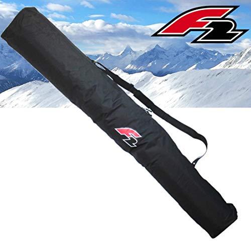 F2 Skitasche für 1 Paar Alpinski mit Stöcken große Transporttasche Ski Ausrüstung mit Tragegurt Schwarz ~yx