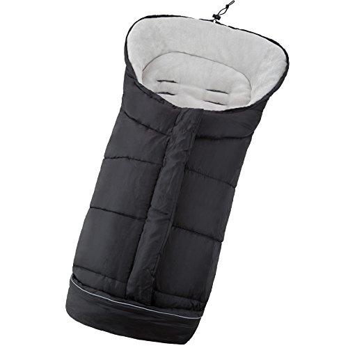 TecTake Winterfußsack für Kinderwagen Buggy Autositz (schwarz)
