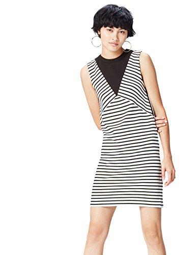mellos mit Streifenmuster, Schwarz (Black/white Striped), 36 (Herstellergröße: Small) ()