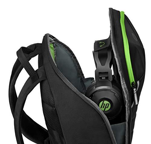"""HP Sac à dos Gaming Pavilion Gaming 400 Pour ordinateur portable jusqu'à 15,6"""" - Imperméable - Panneau arrière rembourré et Bretelles ergono... 9"""