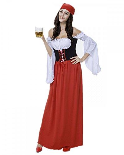 Imagen de disfraz de bavara mujer vestido de oktoberfest cosplay criada/pirata traje medieval talla xl alternativa