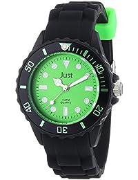 Just Watches Damen-Armbanduhr Analog Quarz Kautschuk 48-S5459-BK-GR