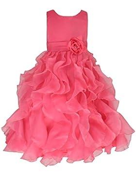 Organza Brautjungfern Anlässe Festkleid Blumenmädchen Kleid