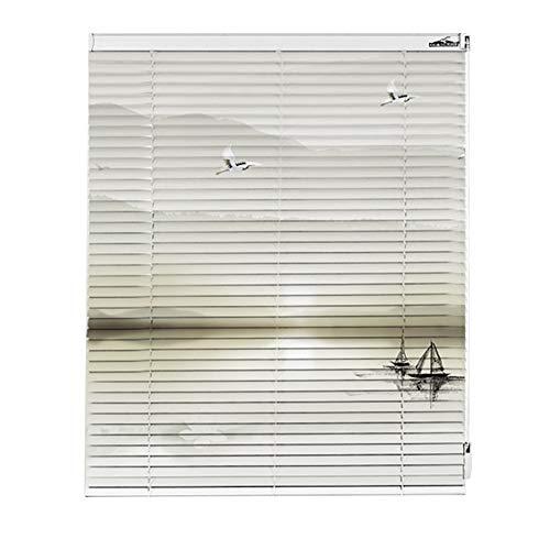 Jalousien Weiße Mini wasserdicht gemustertem, Aluminium-wasserdichtem Fenster Home Office Balkon Sonnenschutz, 60 cm / 80 cm / 100 cm / 120 cm Breite (größe : 100x260cm)