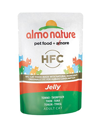 Almo Nature Classic in Jelly Katzenfutter mit Thunfisch, 24er Pack (24 x 55 g) -