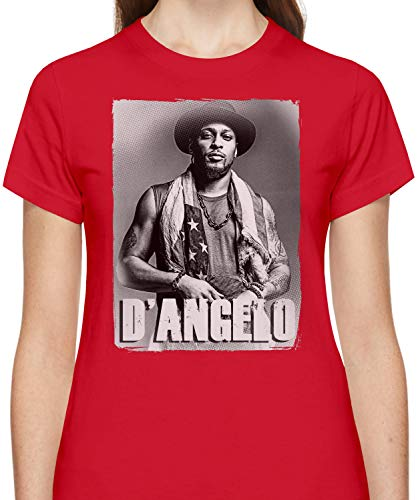 9f390a801086d D Angelo avec Drapeau Américain with American Flag Tshirt for Women Short  Sleeve Womens T