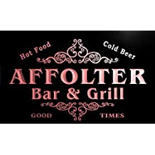 u00251-r AFFOLTER Family Name Bar & Grill Cold Beer Neon Light Sign Enseigne Lumineuse
