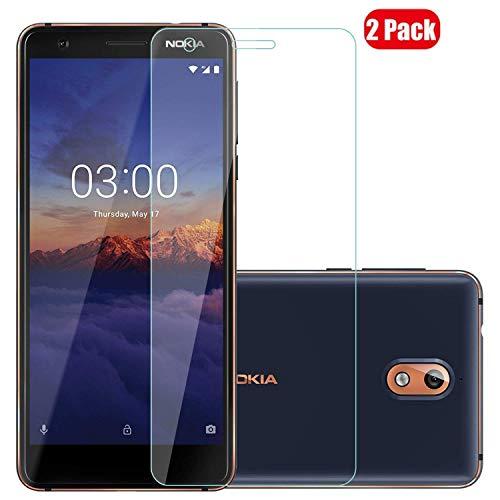 Voviqi nokia3.1plus/Nokia X3 Panzerglas, 9H verbesserte gehärtetes Glas Folie [Blasenfrei] [Anti-Fingerabdruck] Displayschutzfolie für nokia3.1plus/Nokia X3, 2 Stück