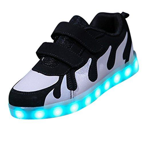 low priced 95df9 4f89e SGoodshoes Leuchtschuhe 7 Farben Blinken USB Aufladbare LED ...