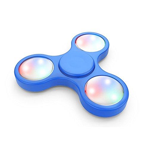 Preisvergleich Produktbild LED Fidget Spinner Hand Spinner Stress Finger Spielzeug Kreisel für Kinder und Erwachsene Spielzeug Geschenke (Blau)