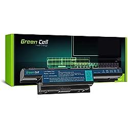 Green Cell® Standard Série Batterie pour Acer TravelMate 5335 5340 5542 5735 5735Z 5740 5740G 5742 5742G 5742Z 5742ZG 5744 7740 7750 Ordinateur PC Portable (6 Cellules 4400mAh 11.1V Noir)