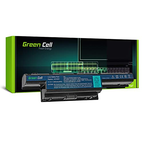 Green Cell® Standard Serie Batería para Acer Aspire 5551 5552 5733 5741 5741G 5742 5742G 5742Z 5749 5749Z 5750 5750G 5755G Ordenador (6 Celdas 4400mAh 11.1V Negro)