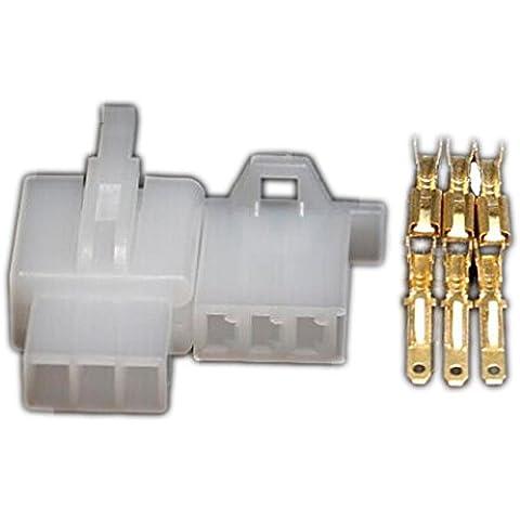10Set 2,8mm connettore 3Pin 2,8auto elettrica cavo di collegamento per E-Bike Automobile Moto ecc. - Bike Set Di Accessori