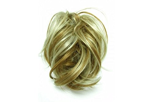 super-fake-hair-scrunchy-on-a-ponio-loop-large-size-golden-blonde-with-highlights