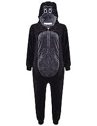 A2Z 4 Kids® Enfants Filles Garçons Doux Duveteux Animal Singe Gorille Léopard Crâne Camouflage Loup Onesie Tout in Un Costume Âge 2-13 Ans
