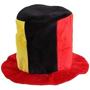 Deutschland Fan Hut Plüsch Zylinder in den Nationalfarben WM 2014 Fußballhut in Deutschlandsfarben