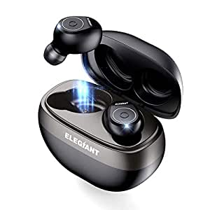 ELEGIANT Auricolari Bluetooth 5.0 Wireless, TWS Cuffie Senza Fili con Scatola e Microfono per iPhone XS Max XR x 8 Samsung s10 s9 s9+ HTC Huawei Mate P20 PRO Lite 10 Xiaomi 9 Bicicletta Viaggi
