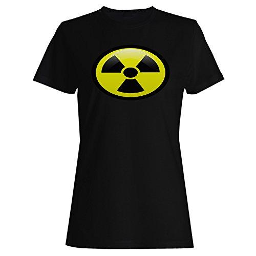 Women's Radiation Symbol Tee. Black or White - XS to XXL