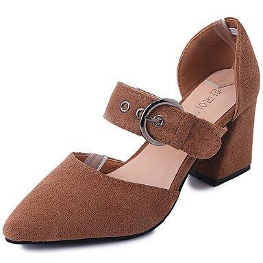 Zormey Damen Sandalen Komfort Im Sommer Pu Im Freien Block Heel Schnalle Zu Fuß US6.5-7 / EU37 / UK4.5-5 / CN37