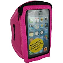Runalyzer piccolo-Bracciale da Sport per iPhone 5/5S/5C, iPod Touch 5, colore: rosa