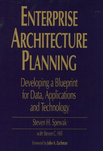 Enterprise architecture planning developing a blueprint for data enterprise architecture planning developing a blueprint for data applications and technology de malvernweather Image collections