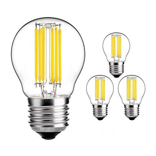 Yiun G45 (A15) 6W antike Edison Style LED Glühlampe, 6000K Tageslicht weiß, 600LM, E27 Basislampe, AC 230V, 60W Glühlampe gleichwertig, dimmbar, 4-Pack (Led-a15-glühbirnen)