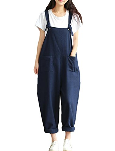 vogstyle-womens-solid-color-baggy-trousers-wide-leg-dungarees-jumpsuit-playsuit-x-large-style-3-blue
