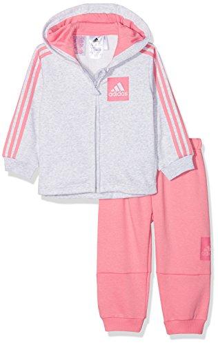 Adidas cf7390Trainingsanzug Mädchen M Haut : Light Grey Heather/Chalk Pink/Real Pink Bas : Chalk Pink/Real Pink