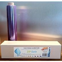 Juego de 6rollos–Película alimentos étirable Pro–Zip Cut–presentación: alimentos, protección Fraicheur, de horno microondas y congelador 45cm x 300m–sin DEHA