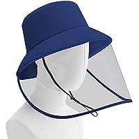 Delleu Sombrero antigoteo de Gotas de Saliva, protección para los Ojos, Capucha de Aislamiento para Proteger Toda la Cara, protección Solar contra Rayos Ultravioleta Sombrero