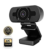 Webcam, 1080P Webcam with Microphone, Auto Focus 8MP 4K Ultra HD Streaming USB Webcam, Computer Laptop PC Web Camera for Video Calling Recording Conferencing