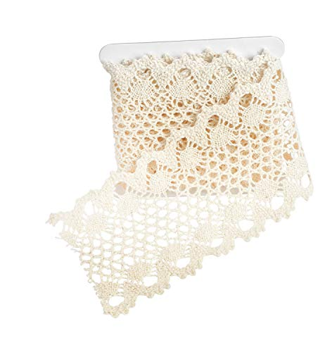 VBS 1m Spitzenband 100x7,5 cm 100% Baumwolle Spitzenborte Vintage Nähen Hochzeit - 1 Spitzenband