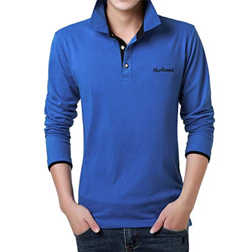Yvelands Herren T-Shirt,Mode Brief Druck Shirt Langarm Casual T-Shirt Bluse Polo Business T-Shirt Tops(U,L) -