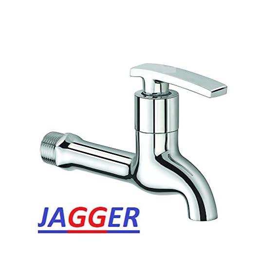 Jagger Opera Long Body Nose Quarter Turn Brass Bib Cock C.P Fittings Bib Tap Bathroom Tap Washing Tap Kitchen Sink Tap(Chrome Finish)