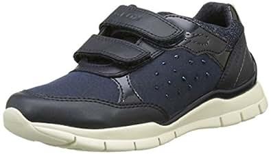 Geox Mädchen J Sukie Girl A Sneaker, Schwarz (Black), 26 EU