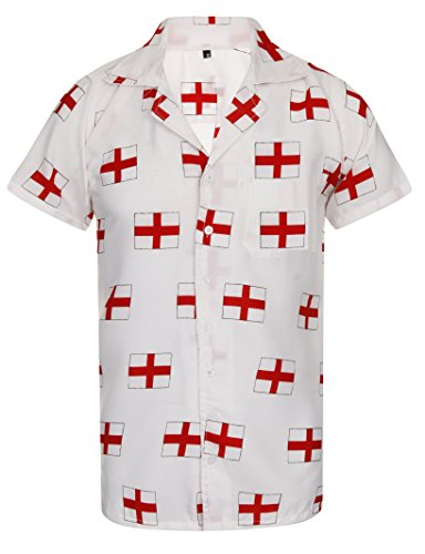 England-Shirt-Hawaiian-Shirt-Mens-Euros-2016-Loud-World-Cup-Football-Rugby-Cricket-St-Georges-Flag-Aloha-Stag-Pub-Aloha-Hawaii-S-M-L-XL-XXL