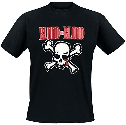 Blood-skull-t-shirt (Blood For Blood - Skull T-Shirt, schwarz, Grösse XL)