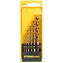 DeWalt DT5940-QZ - Juego de 6 brocas de cobalto HSS-CO Extreme para metal en cassette de plástico 2,3,4,5,6,8mm