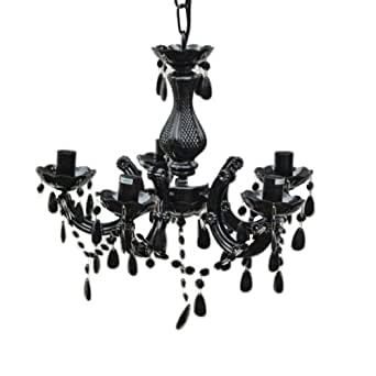 lounge zone alex kronleuchter acrylglas 5 armig 30 x 38. Black Bedroom Furniture Sets. Home Design Ideas