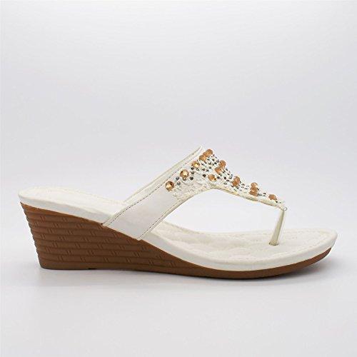 London Footwear , Ouvertes à larrière femme Blanc