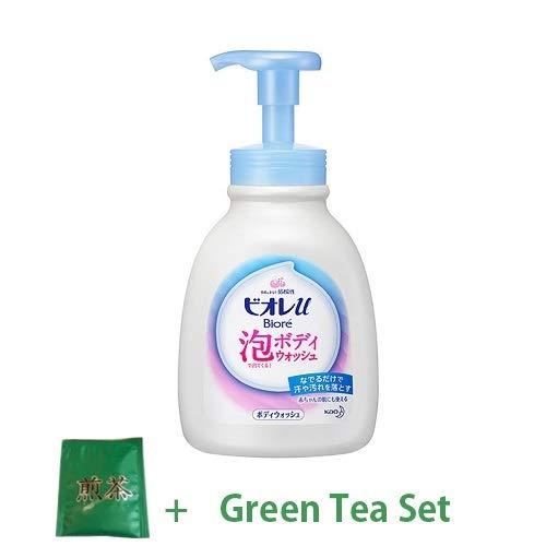 Kao Biore U New 2018 Bubble Body Wash 600ml - Fresh Floral Scent (Green Tea Set)