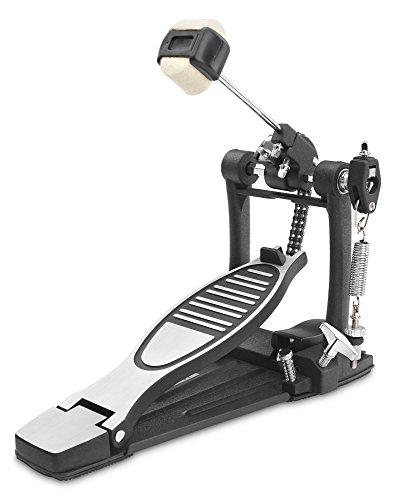 XDrum Fußmaschine Pro, Doppel (Doppelkettenzug, 4 Side Beater, Fußstopper, vielseitig justierbar, Schlägelwinkel frei einstellbar)